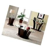 Furniture of America Lantler 3 Piece Coffee Table Set in