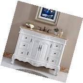"48"" Lavatory Bathroom Single Sink Vanity Cabinet Travertine"