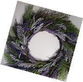Lavender Artificial Door Wall Wreath 18