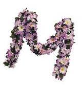 LAVENDER  DAISIES Chain Garland ~ 5 ft Silk Wedding Flowers