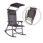 Lawn Chairs Folding Portable Rocking Chair Rocker Canopy