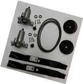 Lawn Mower Rebuild Kit 42in Deck Belt Spindle Blades