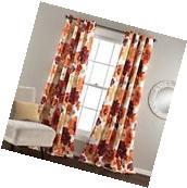 Lush Decor Leah Blackout Window Curtain Panel  Red/Orange