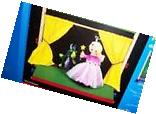 LearningSmith Make Believe Wooden Table Top Puppet Theater/