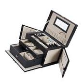 Best Choice Products Leather Jewelry Box And Organizer Watch
