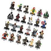 Lego Compatible 24 piece lot Marvel DC Minifigures Building