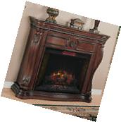 Lexington Infrared Electric Fireplace Mantel in Empire