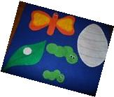 Life Cycle of a Butterfly Felt Set for the Flannel Board