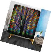 Life tree Home Bathroom Decor Waterproof Shower Curtain &