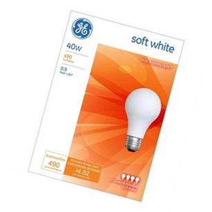 Light Bulbs Soft White 4-Pack 40 Watts