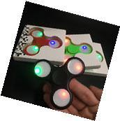 LED Light Fidget Tri-Spinner Focus ADHD Finger Ball For Kids Adult Desk Toys
