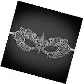 Light Grey Lace Masquerade Ball Mask Mardi Gras Halloween
