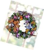 LIGHTED SPRING BUTTERFLY WREATH: WELCOME SPRING/EASTER WITH
