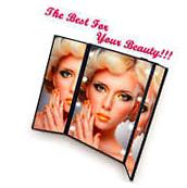 Lighted Vanity Mirror LED Tri-Fold Makeup Travel Beauty