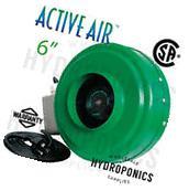 Active Air 6 inch In-Line Fan 400 CFM Blower Inline