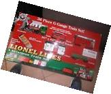 Lionel LINES 36 PIECE G GAUGE CHRISTMAS train set remote