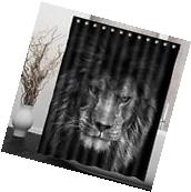 "60x72"" Lion Waterproof Bathroom Polyester Fabric Shower"