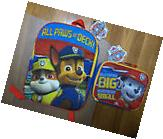 Little Boys Paw Patrol Cartoon School Backpack Lunch Box