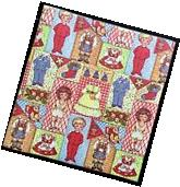 Little Girl and Boy Paper Doll Gift Wrap, 1 Small Sheet,