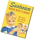 Little Miss SUNBEAM Bread Vintage Retro Metal Tin Sign