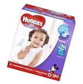 Little Movers Plus Diapers Size 4 180 Ct. Double Grip Strips