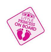 """Get 3rd FREE LITTLE PRINCESS ON BOARD Baby Car Sign 5/""""x5/"""" Sticker Decal Buy 2"""