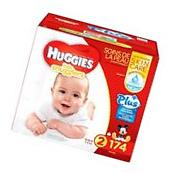 Huggies Little Snugglers Plus Diapers Size 2, 174-count