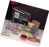 Littlest Pet Shop random Animal With stocked Shopping Cart
