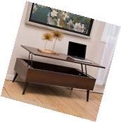 Living Room Furniture Mid-Century Mahogany Wood Lift Top