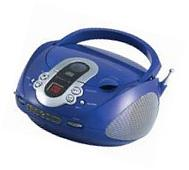 Top Load CD Boombox - Blue