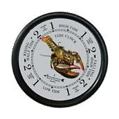 "9 1/2"" LOBSTER TIDE CLOCK BY WEST & CO"