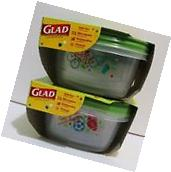 4x GLAD LOCK Food Containers LARGE SQUARE 42oz BPA Free Food