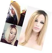 NEW Natural Looking Short Lace Front Wig Synthetic Blonde