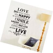 Love Quotes Wall Decal Mural Sticker DIY Art Removable Vinyl