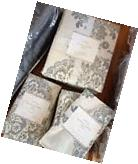 Pottery Barn Lucianna Duvet Cover Gray Queen 2 Standard