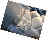 Pottery Barn Lucianna Duvet Cover Set Blue King 3 Euro Shams