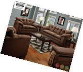 Luna Cafe Chocolate Sofa & LoveSeat Casual MicroFiber Living