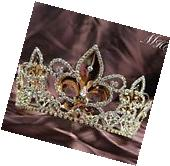 Luxurious King Queen Tiaras Crowns Wedding Bridal Pageant