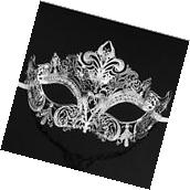 Luxury Silver Elegant Metal Laser Cut Venetian Halloween