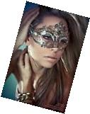 Luxury Silver Beautiful Metal Laser Cut Venetian Halloween