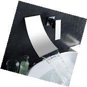 Luxury Waterfall Wall Mounted Bath & Basin Sink Mixer Tap