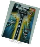 Gillette Mach3 RAZOR Handle+Refill Cartridge Shaver Use w