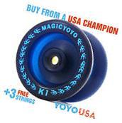 Magic YoYo K1  Spin Ball Bearing YoYo Blue + FREE STRINGS