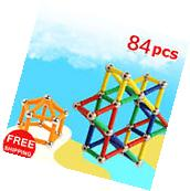 84 PCS Magnetic Blocks Magnetic Building Sets Magnetic Toys