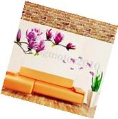 Magnolia Flower Wall Decal Sticker Mural Art Removable Home