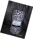 NEW!!! MAINSTAY 50 X 60 FLEECE THROW BLANKET WITH PURPLE