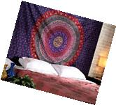 MANDALA TAPESTRY WALL HANGING INDIAN THROW WALL DECOR HIPPIE