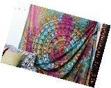 Indian Ethnic Mandala Wall Hanging Tapestry Bohemian Dorm