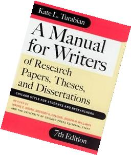 turabian manual for writers of research papers