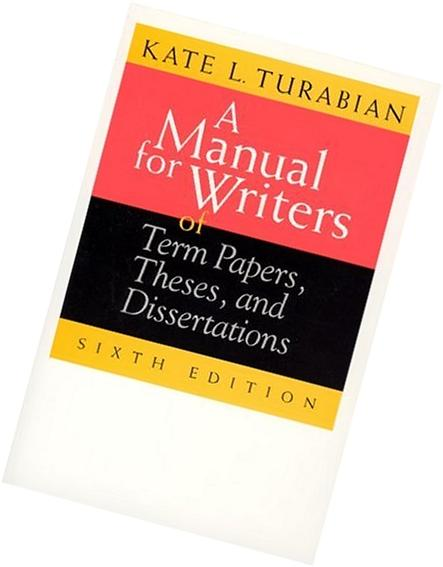 a manual for writers of term papers theses and dissertations 4/2016 dallas theological seminary supplement to kate l turabian, a manual for writers of research papers, theses, and dissertations, 8th edition.